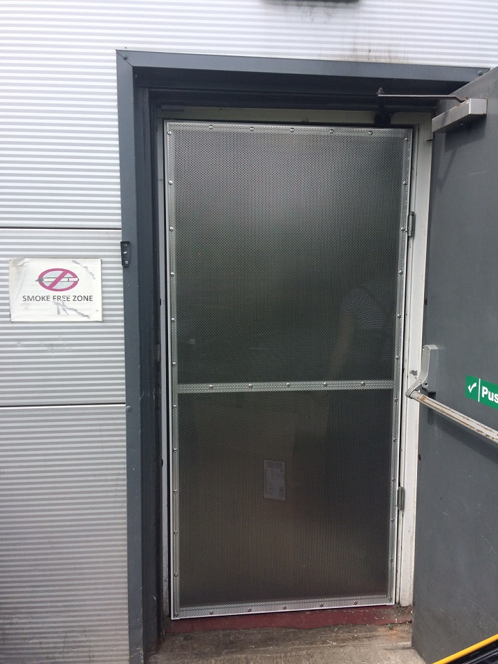 double swinging fire door